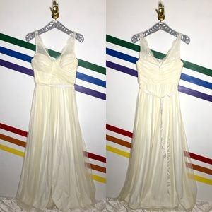 NEW Hitherto ivory fleur tulle lace gown